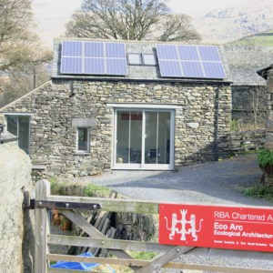 eco build with solar panels