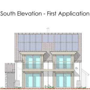 south elevation - first application
