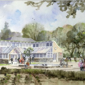 Danby Moors Visitor Centre from garden