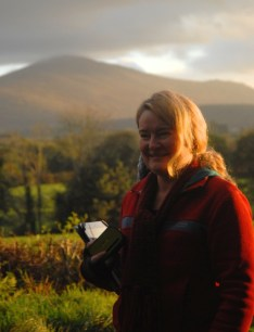 White Mountain behind me, part of the beautiful Blackstairs Mountain range; 300 years ago there was a 'commonage' forest on this site and adjoining fields.