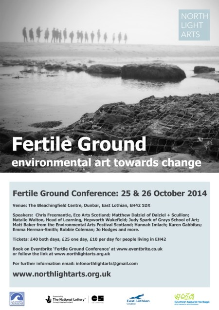 NorthLight Arts Fertile Ground Conference Poster 25 and 26 October 2014