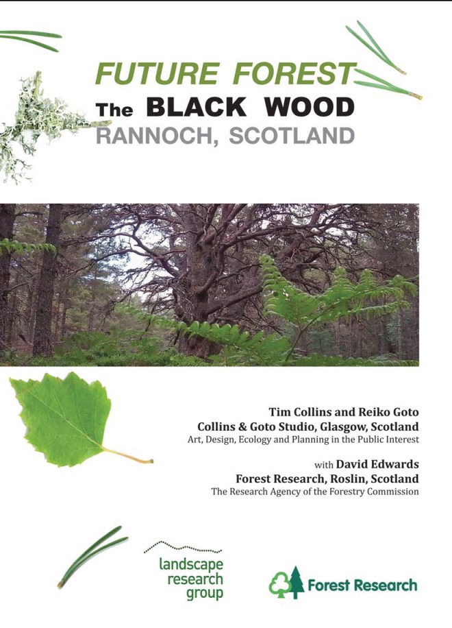 """Cover of report """"Future Forest: The Black Wood, Rannoch, Scotland"""" click to download"""
