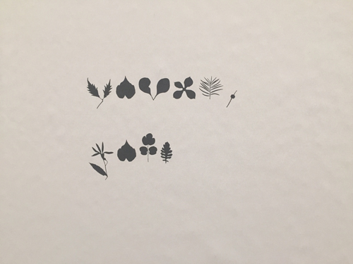 """""""Love John"""" – a detail from a Dear Nature Letter printed in Nymans Language (2020)"""