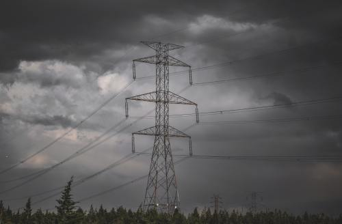 image of electrical tower