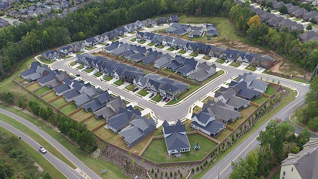 aerial view of the Alabama power smart neighborhood
