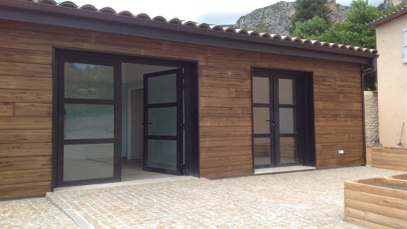 Studio en Bardage Douglas Autoclave à Moustiers Sainte Marie