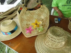 Silver Thatch Basket and Hat