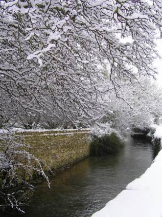 Southrop in the snow