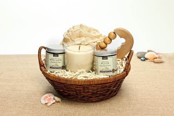 Organic Spa Gift Basket: Good Karma