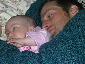 Co-sleeping with Dad