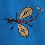 organic cotton kids shirt with lizard