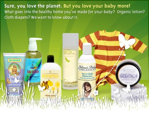 Win green items for baby