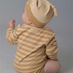 organic baby clothing made from naturally grown colored cotton