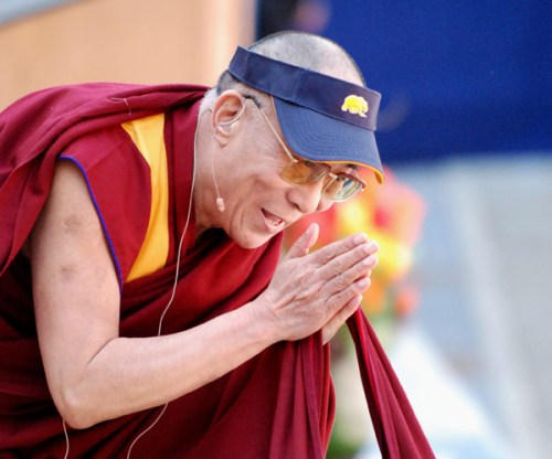 The Dalai Lama speaks of peace through compassion
