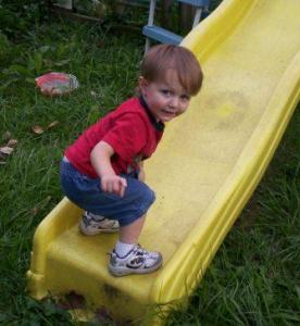 Robby Playing on His Slide