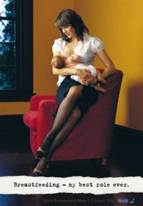 The Lovely Lucy Lawless Breastfeeding