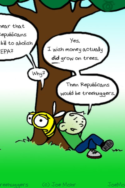 Hank D and the Bee: Republican Treehuggers