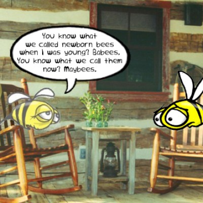 Hank D and the Bee: Bee visits grandpa again