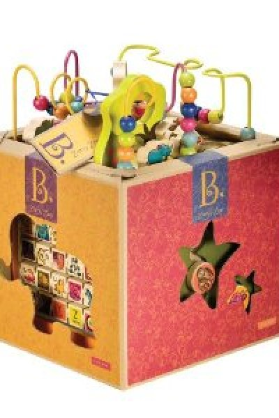 Eco-Friendly Products:  B. Toys Zany Zoo Wooden Activity Cube
