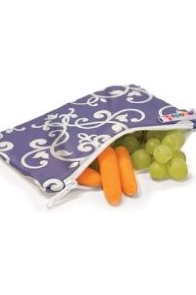 Eco-Friendly, BPA-Free Lunches:  Munchkin Cloth Snack Bags and Toddler Sport Bottle