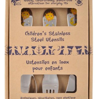 Plastic-Free Gifts:  Children's Stainless Steel Utensils