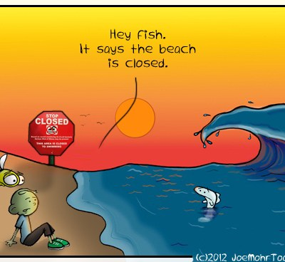 Hank D and the Bee: Beach Closings