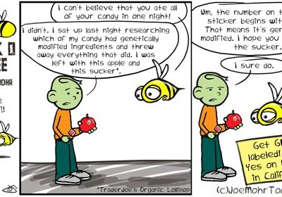 Hank D and the Bee: Keeping Only non-GMO Candy