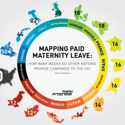 Paid Maternity Leave Around the World [infographic]