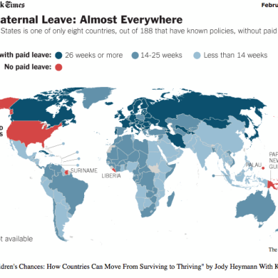Shame on you US!  Paid Maternal Leave Around the World