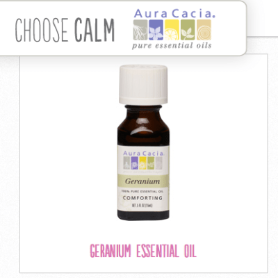 Choose Calm:  Geranium Essential Oil Products by Aura Cacia