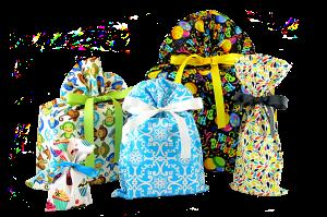 reusable, organic cotton gift bags