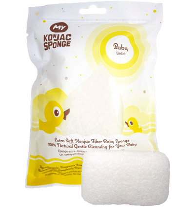 Eco Baby:  All Natural Konjac Fiber Baby Sponge