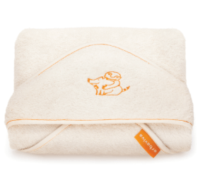 Organic cotton hooded baby towel