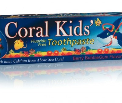 Made in the USA:  All Natural Coral Kids' Fluoride Free Toothpaste