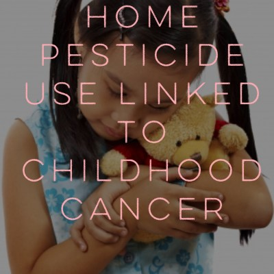 Harvard:  Home pesticide use linked to childhood cancer