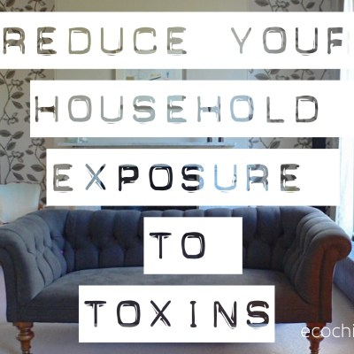 Reduce your household exposure to toxins