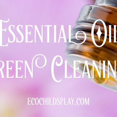 Essential oils green cleaning with thieves blend