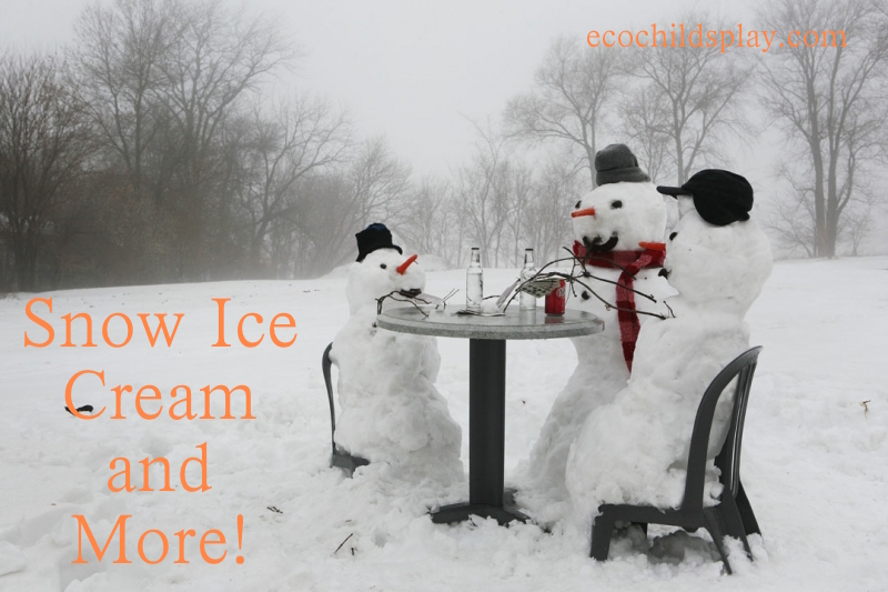 how to make icecream with snow and no milk