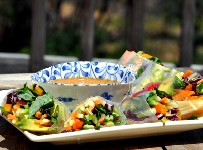 Summer Rolls With Peanut-Ginger Sauce