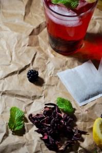 lemon hibisus sun tea