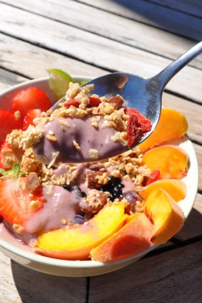 Blackberry-Mango-Peach Nice Cream Bowl