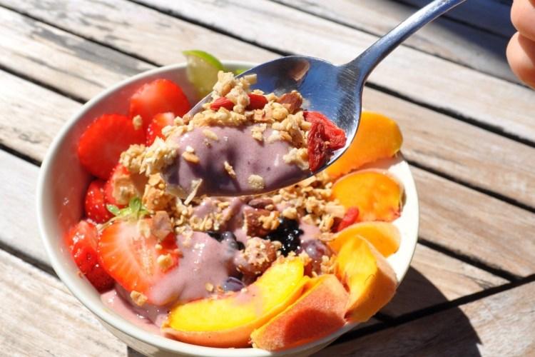 Blackberry-Mango-Peach Nice Cream Bowl