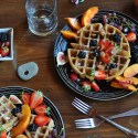 Whole Wheat Zucchini Vegan Waffles