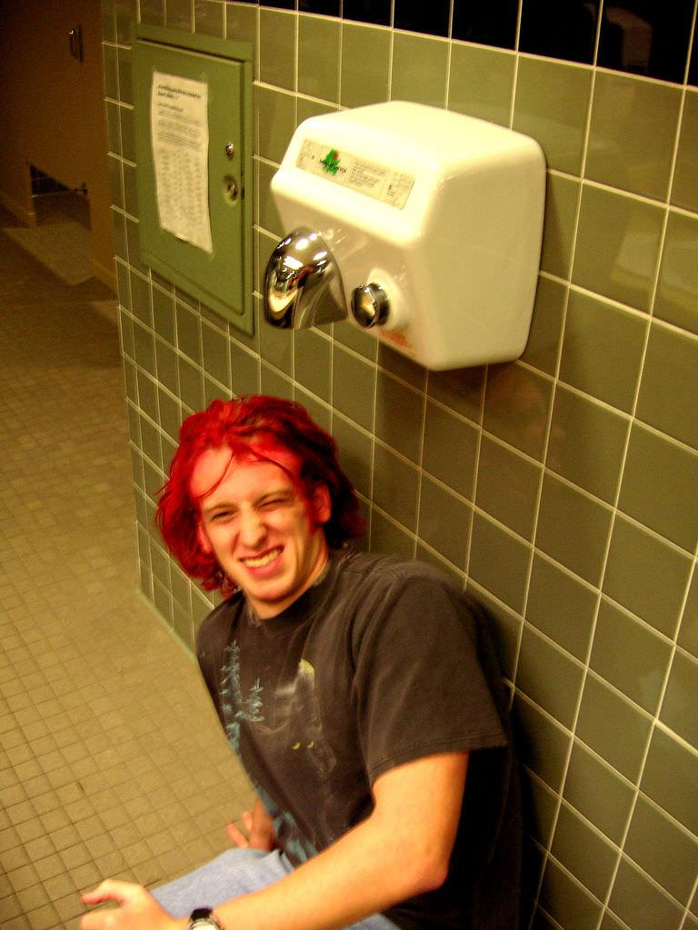 fecal matter hand dryers