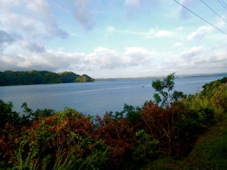 The train ride offers magnificent and unique views of lake Gatun and the Canal
