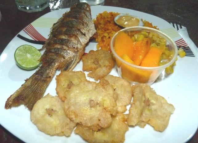Typical lunch in Azuero
