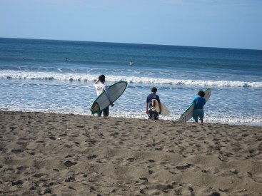 Surfers in Panama