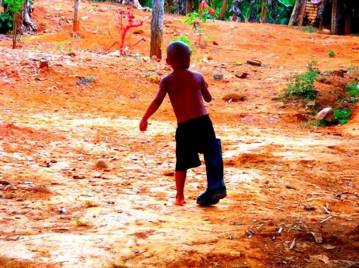 One of the kids playing