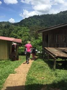 Walking in Bocas del Toro Town