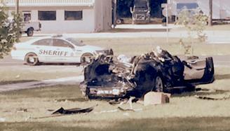 4. Joshua Brown's Tesla S after crash